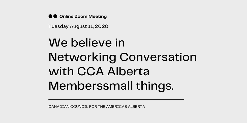 Networking Conversation with CCA Alberta Members