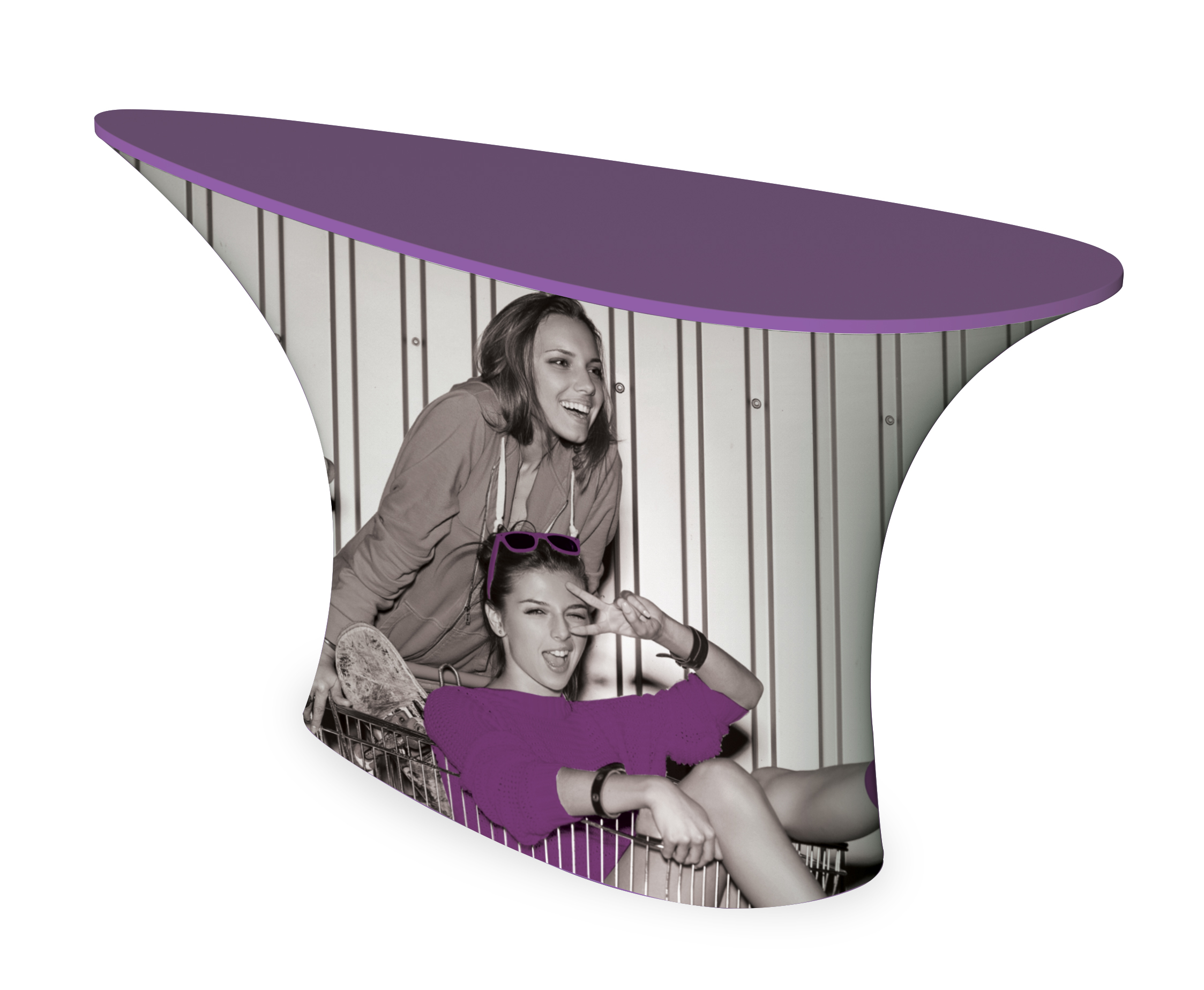 table ovale avec housse textile