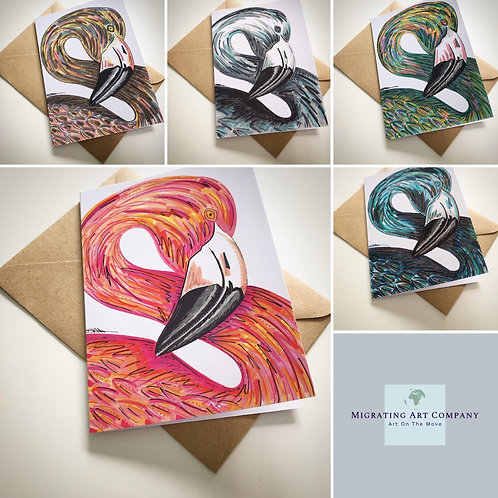 GREETING CARDS PACK OF 5 (FLAMBOYANCE)