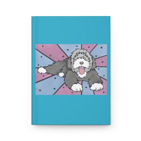 Beardie Blue Hardcover Journal Matte