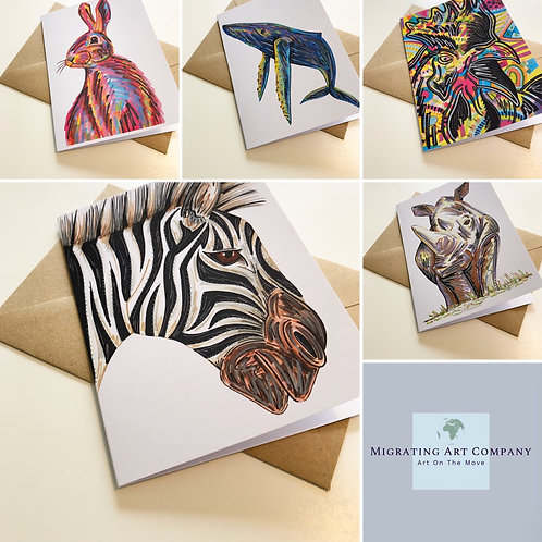 GREETING CARDS PACK OF 5 (HERD)