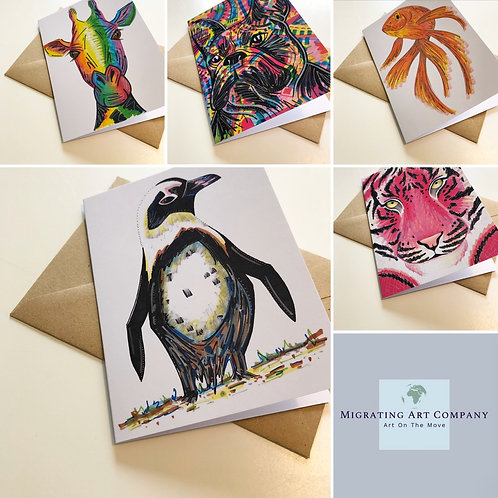 GREETING CARDS PACK OF 5 (SHADOW)