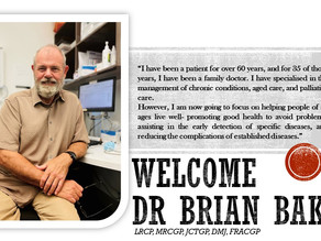WELCOME DR BRIAN BAKER