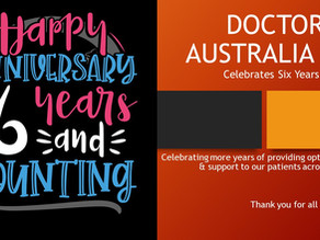 HAPPY 6th ANNIVERSARY   DOCTORS AT AUSTRALIA FAIR