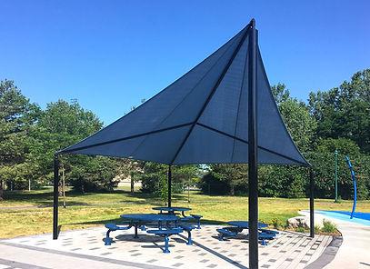 abri solaire, ShadeKite, MTL arr. Pierrefond-Roxboro 2019.