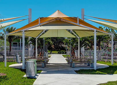 MultiLevel Sails, Deerfield Beach, Sullivan Park, Shade.
