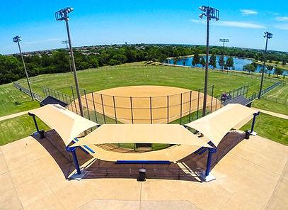 Abri solaire Simple Cantilever, Baseball