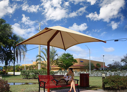 Abri solaire Shade, Offset Single Post