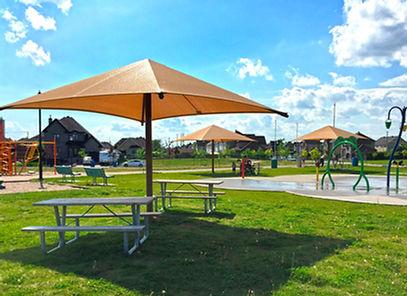 Abri solaire Shade poteau simple, Beloeil Parc Alphonse-Jeannotte,2015.