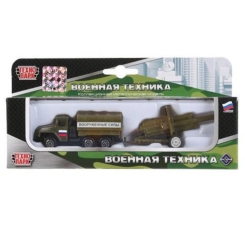ロシア軍 ウラルトラックと対戦車砲 SB-15-59WB(URAL)