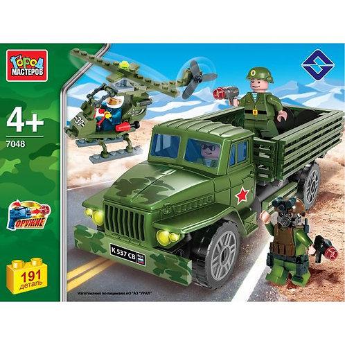 ロシア軍トラックとヘリ KK-7048-R