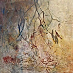 acrylique, art, végétation, hors-sol, OdileBouxirot
