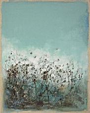 Odile Bouxirot Paris XI° artiste peintre végétation, forêt, arbres, branches, broussailles, fouillis, ronces