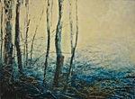 Odile Bouxirot Paris XI° artiste peintre végétation, forêt, arbres