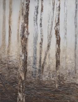 série Forêt   N°2    2011  acrylique sur toile  116x90