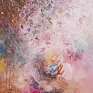 peinture acrylique sur toile, végéation, hors sol , Odile Bouxirot