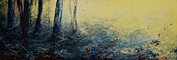 Odile Bouxirot Pari XI° artiste peintre végétation, forêt, arbres