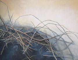odilebouxirot paris XI°  art  peinture  acrylique branches broussailles  nature  végétation  ecosysteme