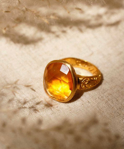 TRUTH OF MY SOUL RING • CITRINE  Size 8