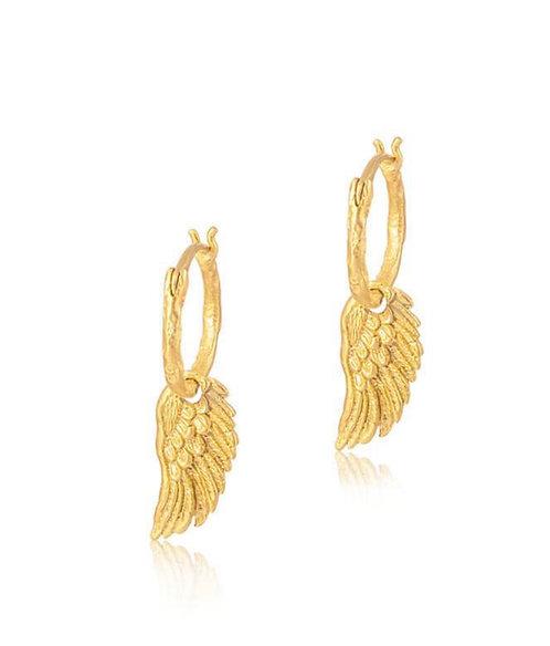 Spread your wings hoop earrings