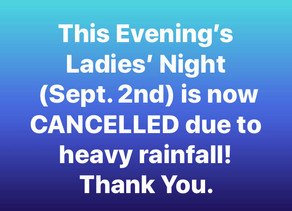 ATTN: Ladies' Night Update (Sept. 2nd)