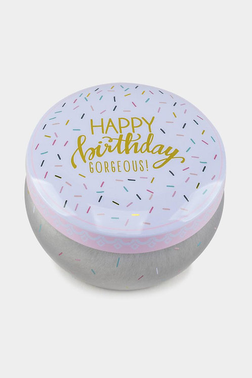 Happy Birthday Confetti Tin Candle