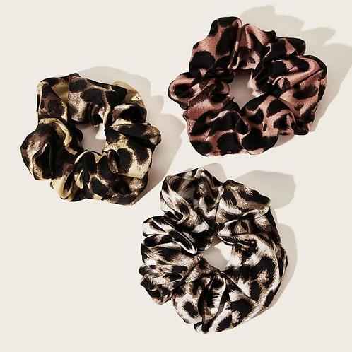 3 Pack of Cheetah Print Scrunchies