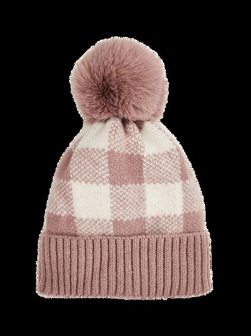 Beanie - Pink Plaid
