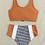 Thumbnail: Striped Bottom Burnt Orange Bikini