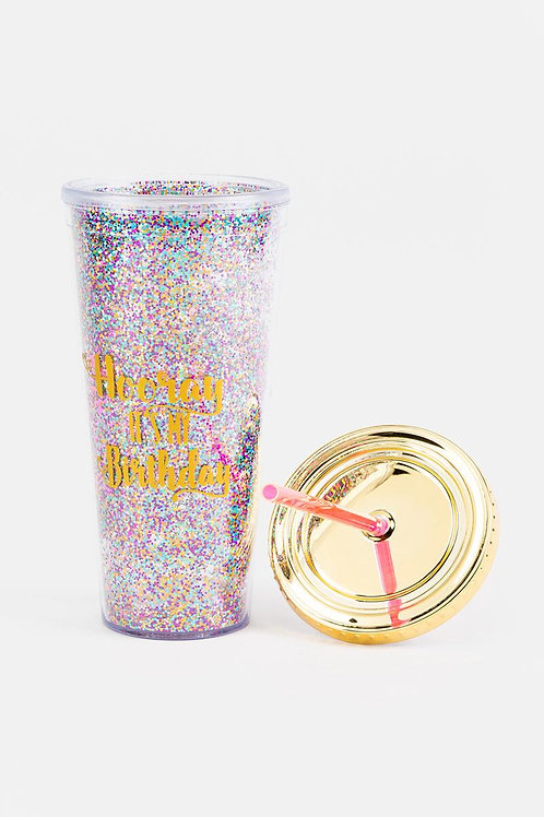 Hooray It's My Birthday Tumbler