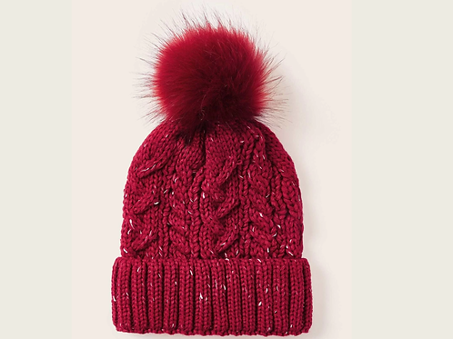 Beanie - Red Knit