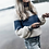 Thumbnail: Long Sleeve Mohair Color Block Sweater