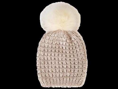 Beanie - Beige Knit