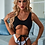 Thumbnail: White/Black Belted One-Piece