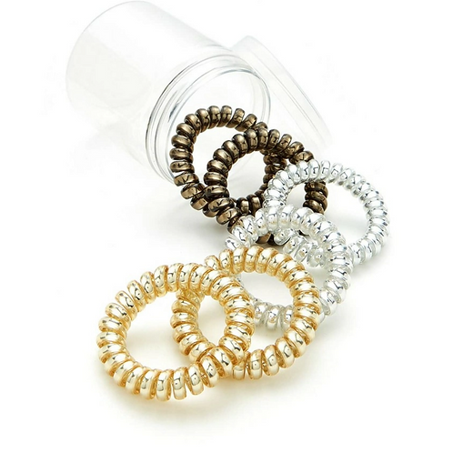 Metallic Spiral Hair Ties
