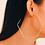 Thumbnail: Hexagon Hoop Earrings