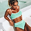 Thumbnail: Mint Green Ribbed Bikini