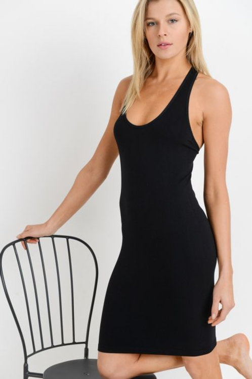 Racerback Black Dress