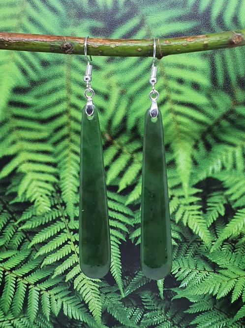 Greenstone Drop Earrings - E2