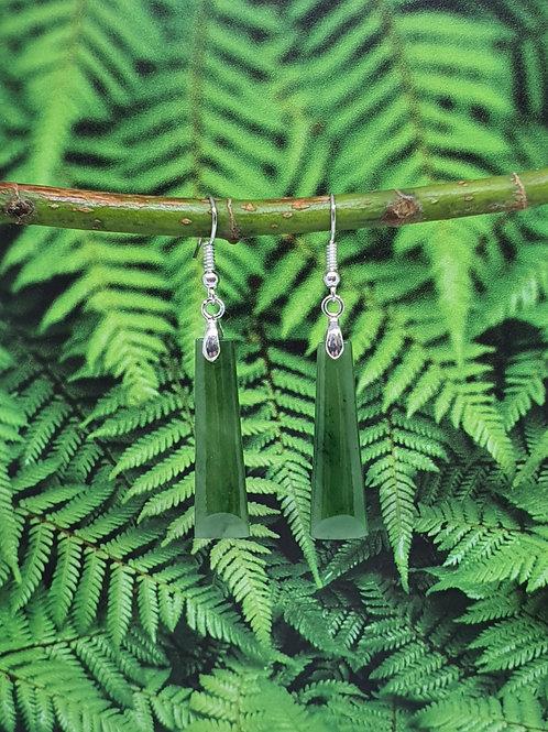 Greenstone Drop Earrings - E6