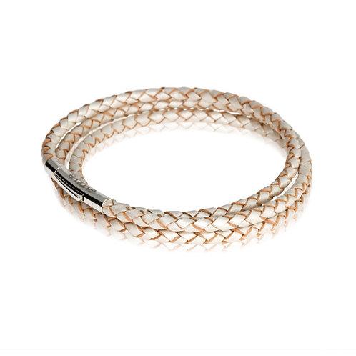 Journey Bracelet Pearl Triple Twist- LKBEL-PL