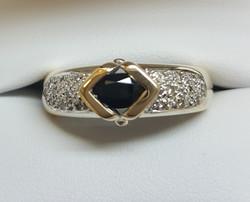 Sapphire Diamond pave shoulder