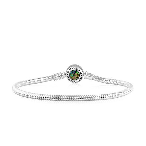 Evolve Paua Bracelet Silver - LKBP
