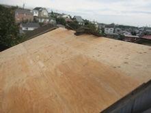 横浜市港北区 屋根葺き替え工事 野地板 施工