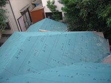 東京都町田市 屋根全面 ルーフィング 完了 南面 谷