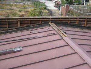 横浜市港北区 雨漏り修理 板金屋根 既存屋根解体 木下地