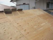 横浜市港北区 屋根葺き替え工事 野地板 全体