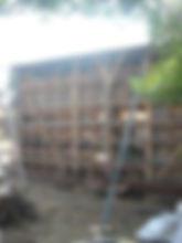 東京都稲城市 外壁波板工事 骨組み