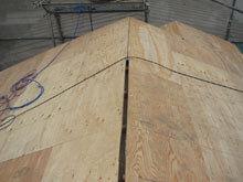 川崎市 高津区 新規屋根野地板 施工 換気口用加工