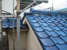 川崎市 高津区 瓦屋根 点検 段違い壁取り合い